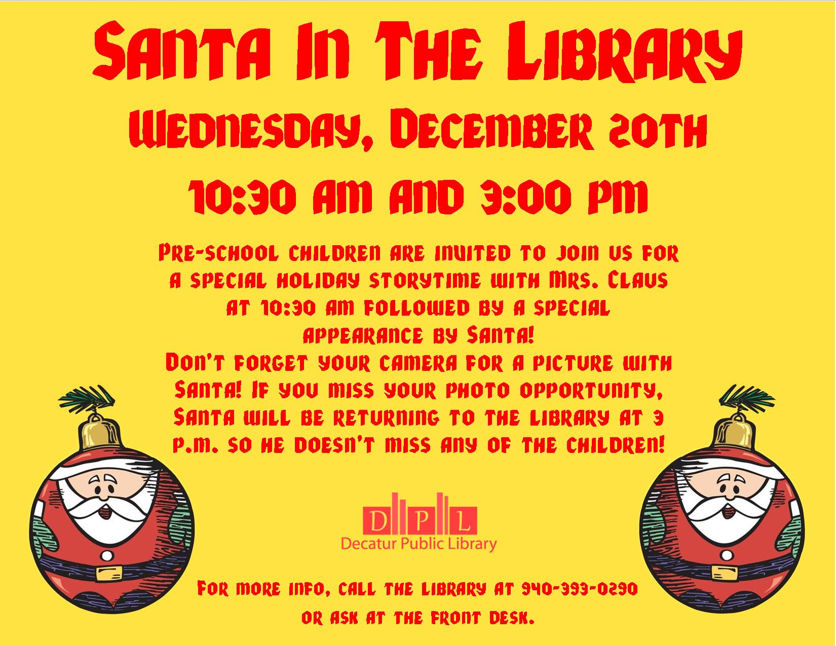 Santa in the library