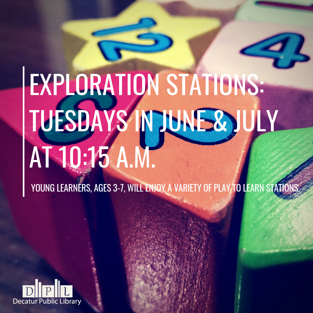 Exploration Stations_Thursdays 10_15 a.m. to 11_00 a.m. Young learners, ages 3-7, will enjoy a varie
