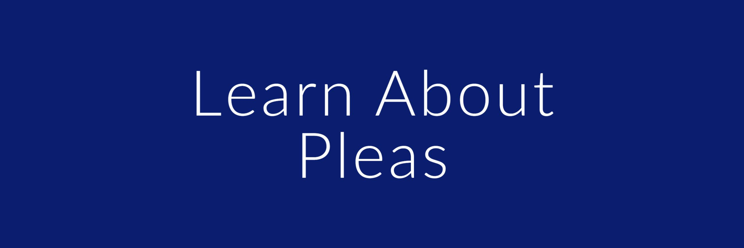 learn about pleas button