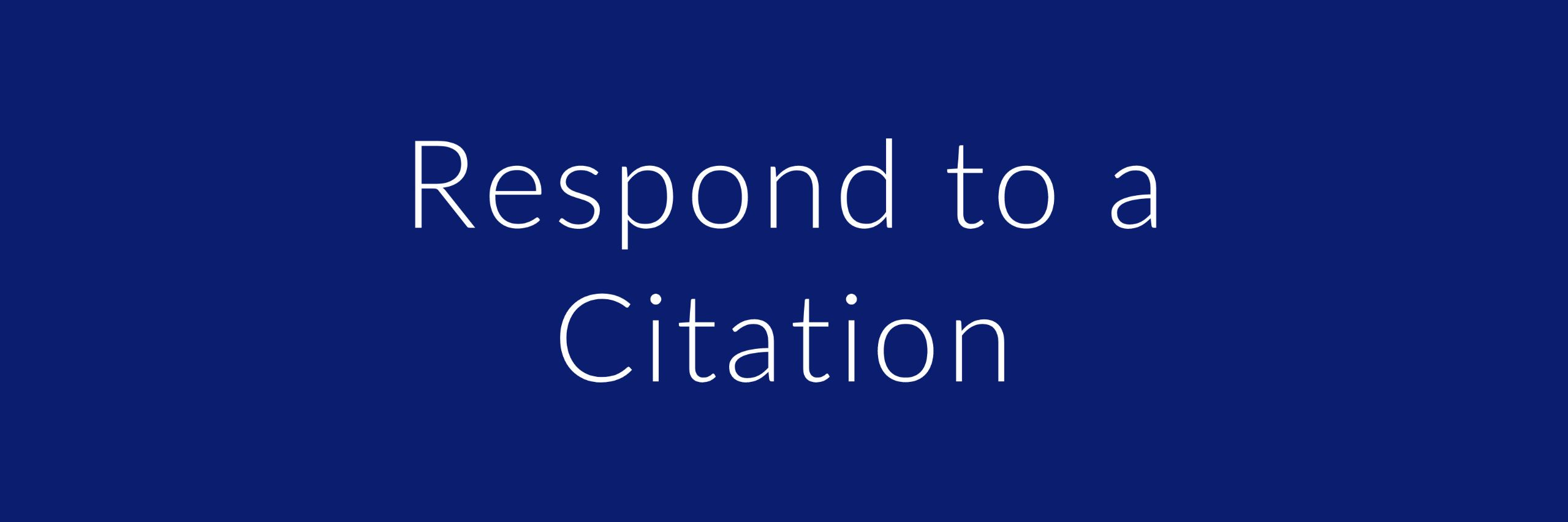 respond to a citation button